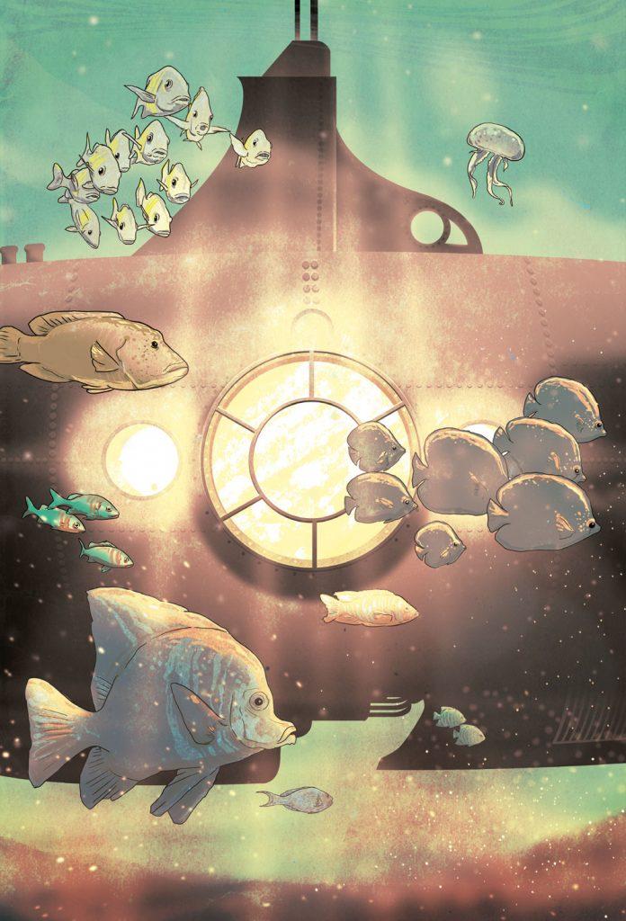 20000 leguas de viaje submarino ilustrado por Pablo Pino