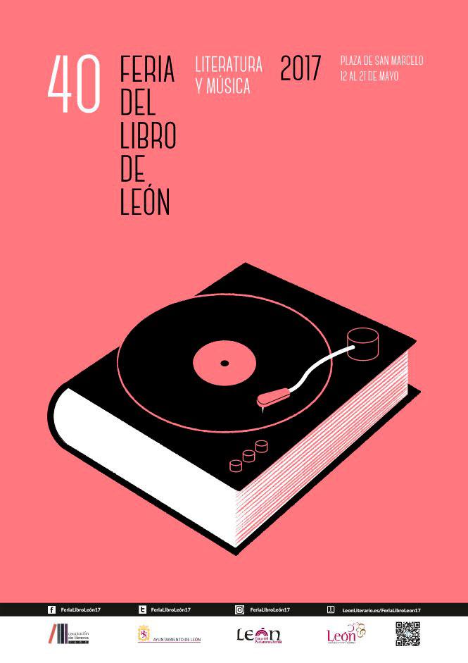 Cartel de Javier Cardo para la Feria y programa de la XL Feria del Libro de León