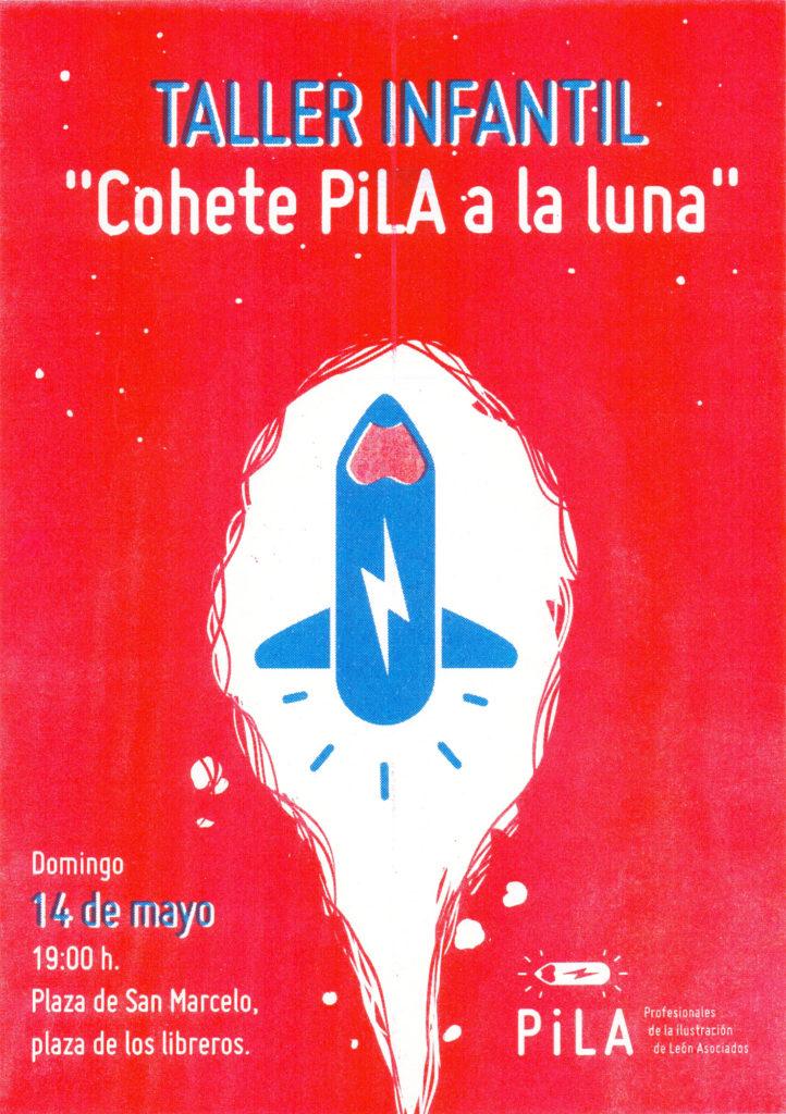 """Taller infantil """"Cohete PiLA a la luna"""" en Plaza de San Marcelo"""