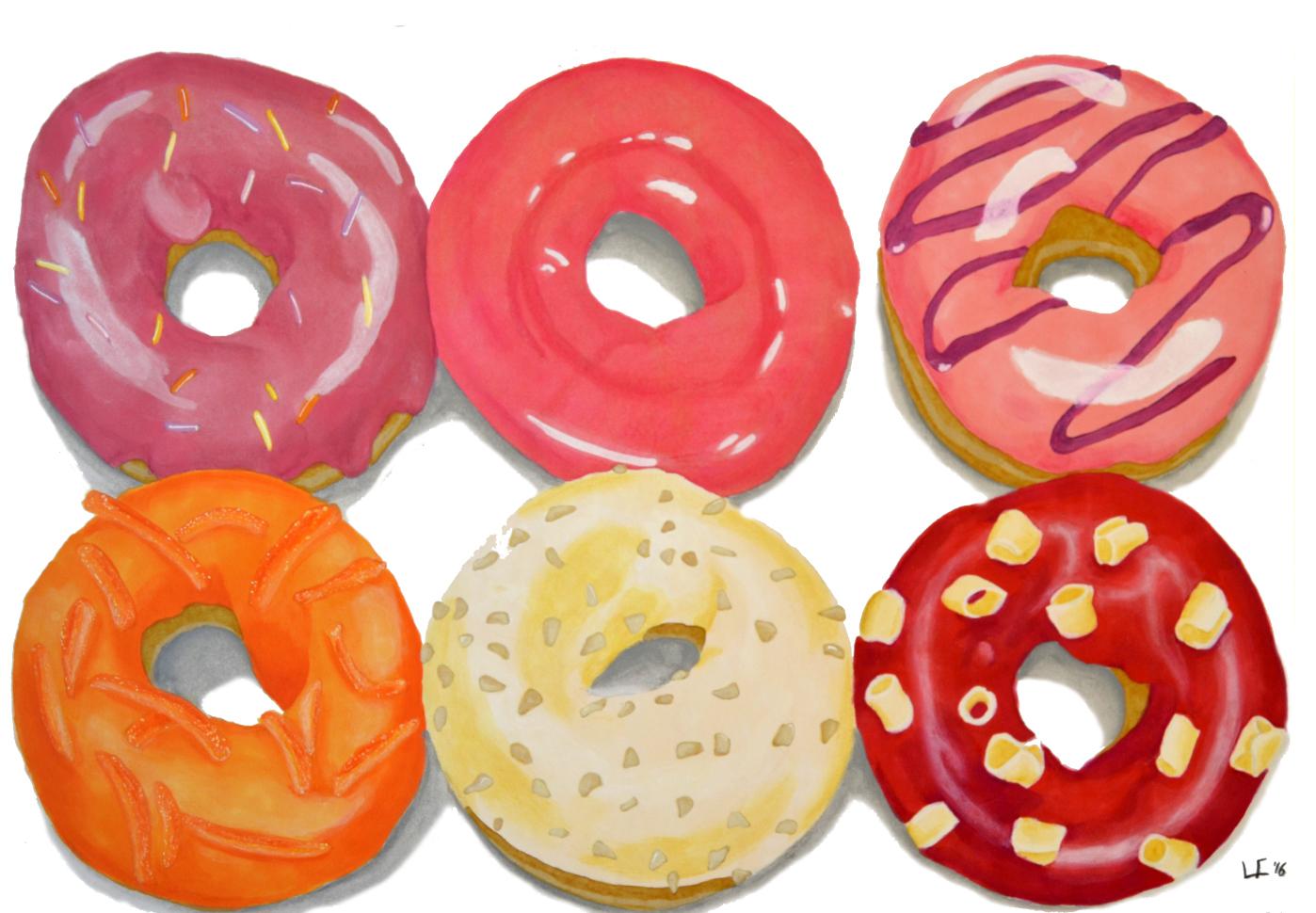 Donuts Cálidos ilustración de Louis Firioss
