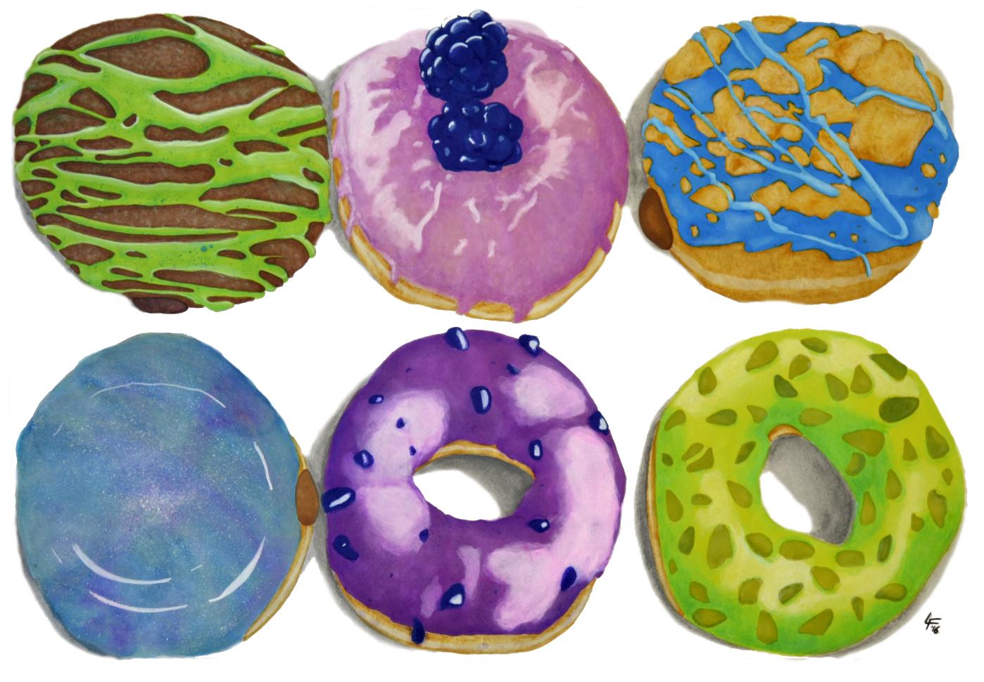 Donuts Fríos ilustración de Louis Firioss
