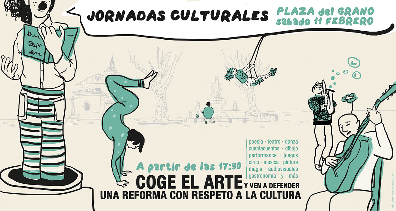 Cartel Jornadas Culturales Salvemos la Plaza del Grano