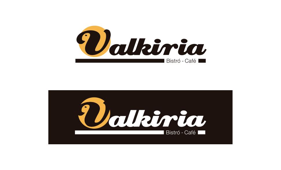 Logotipo Valkiria Bistro Café