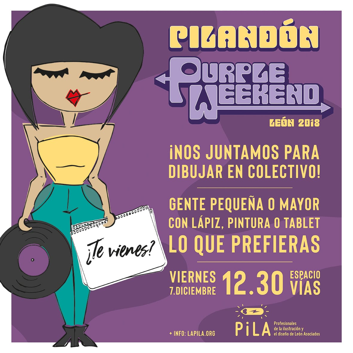 Cartel Pilandón Purple Weekend